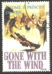Stamps of the world : São Tomé and Príncipe :  1236 - Homenaje al cine, Lo que el viento se llevó