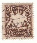 Sellos de Europa - Alemania -  Bayern Ed 1874