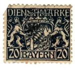 Stamps Germany -  Baryern Ed 1916