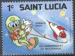 Stamps Antigua and Barbuda -  10 Th Aniversary of  Moonwalk