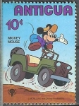 Stamps America - Antigua and Barbuda -  Mickey Mouse
