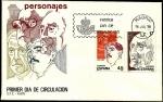 Stamps Spain -  Personajes - Juan Gris - Azorín - SPD
