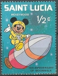 Stamps Netherlands Antilles -  10 Th Aniversary of  Moonwalk