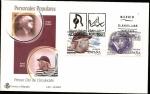 Stamps Spain -  Personajes Populares - Joaquín Rodrigo - Rafael Alberti - SPD