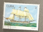 Sellos de America - Cuba -  Veleros cubanos