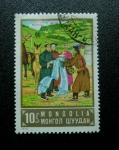 Sellos de Asia - Mongolia -  Campesinos-Caballos