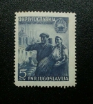 Stamps Yugoslavia -  Conmemoracion al 5to Aniversario de la liberacion de Macedonia