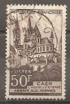 Sellos del Mundo : Europa : Francia : Abadía aux Hommes, Caen.
