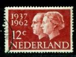 Sellos del Mundo : Europa : Holanda : Cincuentenario boda real 1937-952