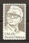 Stamps United States -  Homenaje al Senador Everet Dirksen.