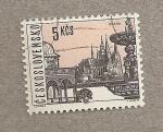 Sellos de Europa - Checoslovaquia -  Vista de Praga