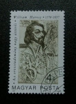 Stamps Hungary -   Dr. William Harvey. 1578 - 1657