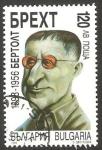 Sellos del Mundo : Europa : Bulgaria : 3761 - centº del nacimiento del dramaturgo alemán Bertolt Brecht
