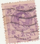 Stamps Spain -  ALFONSO XIII. TIPO MEDALLÓN