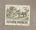 Stamps Indonesia -  Rinoceronte