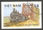 Stamps Vietnam -  388 - locomotora