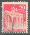 Stamps : Europe : Germany :  ALEMANIA_SCOTT 646 BRANDENBURG GATE, BERLIN. $0.2