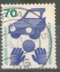 Stamps : Europe : Germany :  ALEMANIA_SCOTT 1082 SEGURIDAD VIAL 70 PF