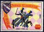 Stamps : Africa : Equatorial_Guinea :  Armaduras y escudos medievales, Humphrey de Bohun.