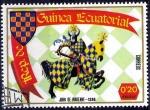 Stamps : Africa : Equatorial_Guinea :  Armaduras y escudos medievales, John de Warenne