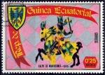 Stamps : Africa : Equatorial_Guinea :  Armaduras y escudos medievales, Ralph de Montherner.