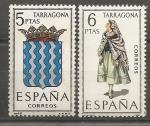 Sellos de Europa - España -  Escudo y traje típico (Tarragona)