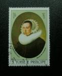 Stamps Africa - São Tomé and Príncipe -  Rembrandt: Retrato de una Dama