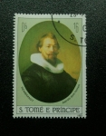 Sellos del Mundo : Africa : Santo_Tomé_y_Principe : Rembrandt: Retrato de un Hombre