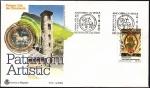 Stamps Andorra -  Patrimonio artístico - pinturas murales de Santa Coloma - SPD