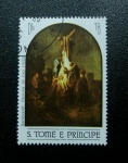 Stamps Africa - São Tomé and Príncipe -  Rembrandt: Descendiendo de la Cruz