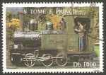 Stamps São Tomé and Príncipe -  1245 D - locomotora a vapor