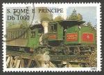 Stamps São Tomé and Príncipe -  1245 B - locomotora a vapor
