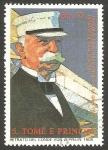 Stamps : Africa : São_Tomé_and_Príncipe :  915 - 150 anivº del nacimiento de Ferdiand von Zeppelin