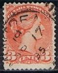 Stamps Canada -  Scott  37b  Reina Victoria (8)