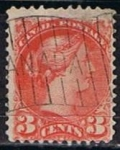 Sellos de America - Canadá -  Scott  37b  Reina Victoria (10)