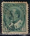 Sellos de America - Canadá -  Scott  89  Rey Edward VII