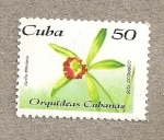 Stamps of the world : Cuba :  Orquideas cubanas