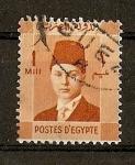 Stamps Egypt -  Rey Farouk.