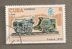Sellos de America - Cuba -  Locomotoras