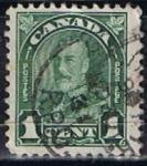 Stamps Canada -  Scott  163  Rey George V