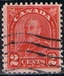 Sellos de America - Canadá -  Scott  165  Rey George V (7)