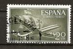 Stamps Spain -  Superconstellation y nao Santa Maria.