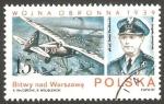Sellos de Europa - Polonia -  2923 - general Stefan Pawlokowski, y avión