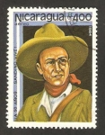 Stamps America - Nicaragua -  1055 - 50 anivº de la muerte del general Augusto César Sandino