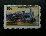 Sellos de Asia - Mongolia -  Tren. Recorrido Moscu - Ulan Bator