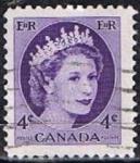 Stamps Canada -  Scott  340  Elizabeth II (10)