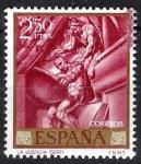 Sellos del Mundo : Europa : España : 1716 La Justicia de José Maria Sert.(defecto de tinta en margen derecho-arriba).