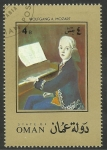 Stamps Asia - Oman -  Mozart