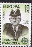 Stamps Europe - Andorra -  EUROPA 1980. FRANCESC CAIRAT I FREIXES. PRESIDENTE DEL PARLAMENTO