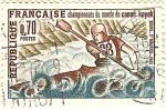 Stamps France -  Championats du monde de canoe - kayak